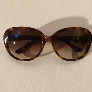 Authentic Salvatore Ferragamo Tortoise Sunglasses